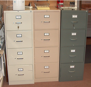 4-Drawer Upright File Cabinet (Tan)... Office Equipment Sale ...