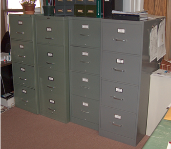 4-Drawer Upright File Cabinet (Grey)... Office Equipment Sale ...