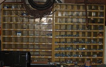 Nut and Bolt Cabinet...Road District Equipment Sale, Geneva, Illinois